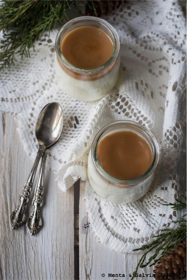 Panna cotta con dulce de leche