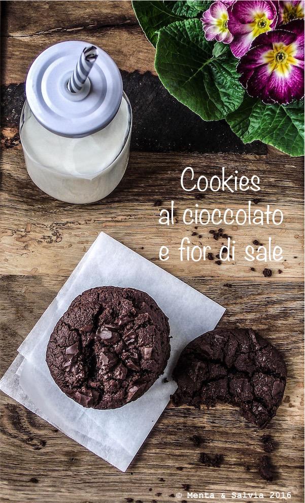 Cookies al cioccolato e fior di sale