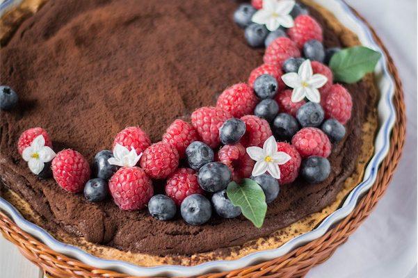Crostata al cioccolato e lamponi