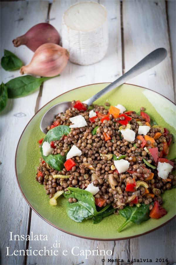Insalata di lenticchie e caprino